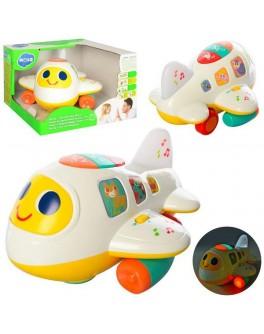 Игрушка музыкальная Hola Toys Самолетик (6103)