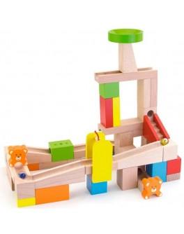 Деревянный конструктор Viga Toys Занимательные горки (51619)