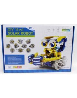 Конструктор на солнечных батареях Diy Solar Robot 11 в 1 - mpl 2045