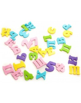 Набор для купания Буквы и цифры, 42 шт - ves 091113