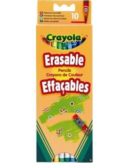 Набор Crayola цветные карандаши с резинкой 10 шт - ves 3635