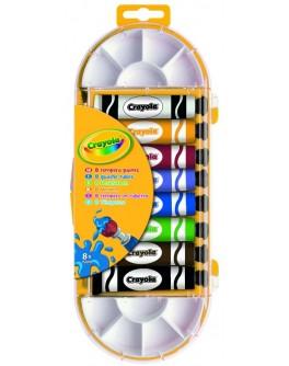 Краски темпера Crayola в тюбиках с кисточкой 8 шт - ves 7407