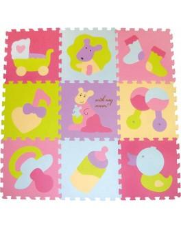 Детский коврик-пазл Baby Great Маленький кенгуренок 92х92 см (GB-M129KB)