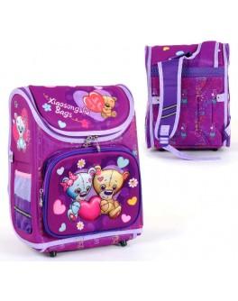 Рюкзак школьный каркасный С 36178 Мишки 3D принт