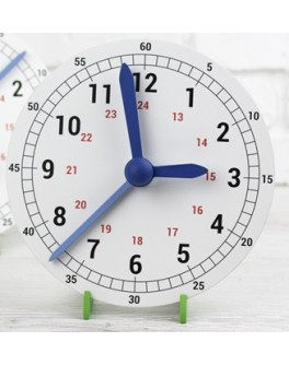 Обучающие механические часы макет 230 мм