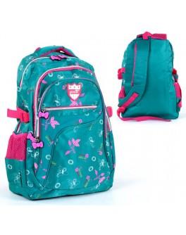 Рюкзак школьный С 36250 мягкая спинка, 3 отделения, 3 кармана