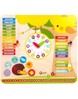 Деревянная игрушка Classic World Мой первый календарь