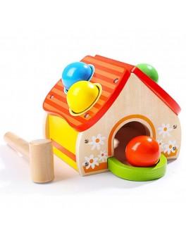 Дерев'яна гра Top Bright Будиночок з м'ячиками і молотком - top b 6947