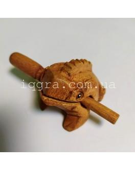 Музыкальный инструмент трещетка поющая Лягушка - int 2548