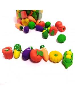 Набор счетного материала Овощи в банке 60 штук