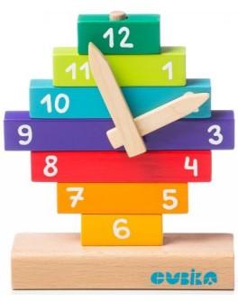 Деревянный конструктор Cubika Часы (14354) - cub 14354