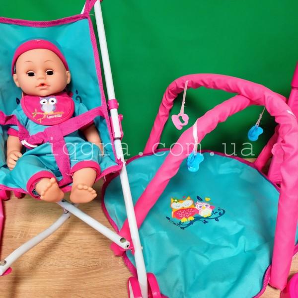 пупс Doll Stroller с аксессуарами 81866