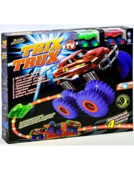Трек канатный Trix Trux  2 вездехода, 2 трамплина горки, 2 лестницы, 2 волны - igs YG 14