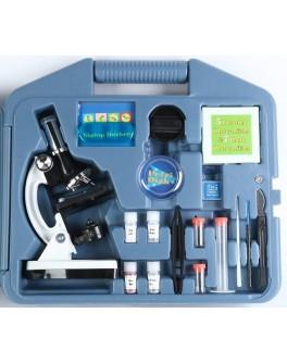 Микроскоп ученический 28 предметов 300х-600х-1200х в кейсе - нуш Д915у