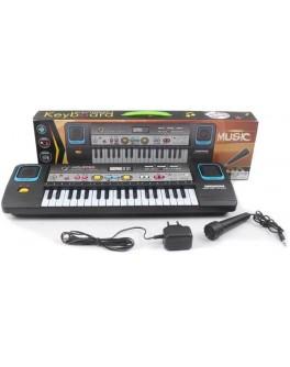 Детский электронный синтезатор с микрофоном MQ3782