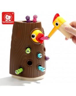 Накорми птичку Деревянная игра на магнитах Top Bright