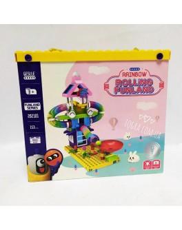Конструктор с пружинками Rolling Funland 202101 (153 детали)