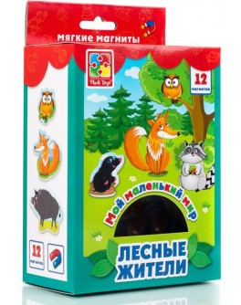 Набор магнитов Vladi Toys Мой маленький мир. Лесные жители (VT3106-06)