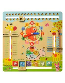Дерев'яна іграшка Годинник та Календар природи - mpl MD 2063