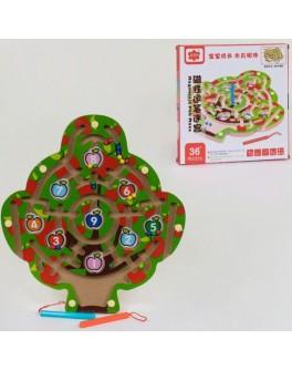 Деревянная игра Лабиринт с шариками Дерево - igs C 39989