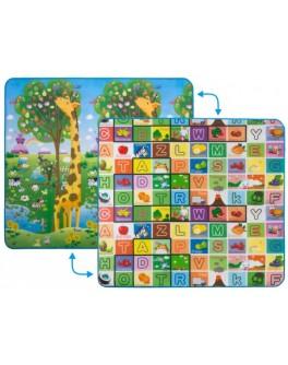 Дитячий двосторонній килимок Limpopo Велика жирафа та Барвиста абетка, 200х180 см - SGR LP012-200