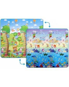 Дитячий двосторонній килимок Limpopo Сафарі-пікнік та Підводний світ, 200х180 см - SGR LP010-200