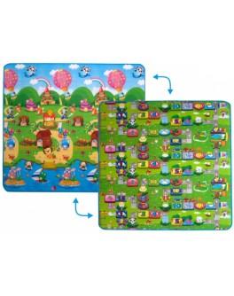 Дитячий двосторонній килимок Limpopo Сонячний день та Кольорові циферки, 200х180 см - SGR LP003-200