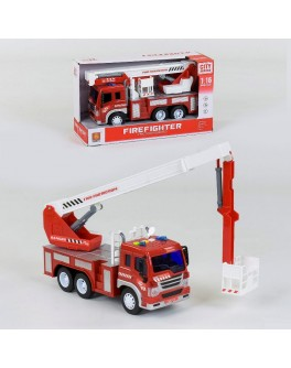 Машинка инерционная Пожарная машина WY 350 C (свет, звук) - igs WY 350 C