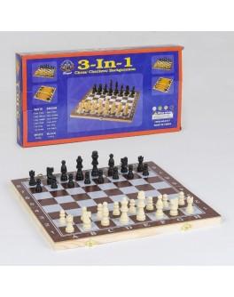 Настільна гра 3 в 1: шахи, шашки, нарди (С 36812) - igs С 36812