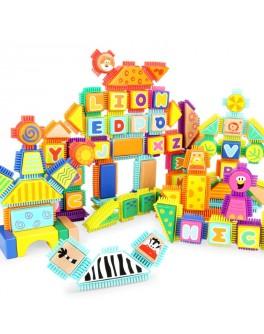 Деревянные кубики конструктор Top Bright Дикие животные 150 деталей (120347)