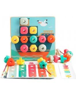 Развивающая игрушка Top Bright Складная мозаика и шнуровка (120450)
