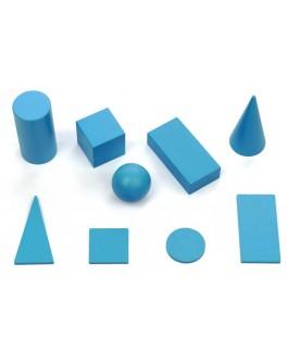 Набор деревянных геометрических тел и фигур, размеры: 4х4 см, Komarovtoys - kom 370+