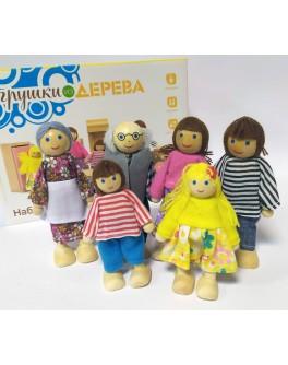 Набор из 6 деревянных кукол, Мди - der 276