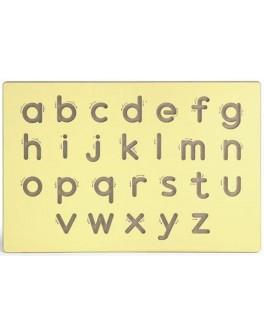 Настенный набор для освоения написания строчных букв латинского алфавита Viga Toys (50858)