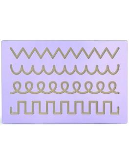 Доска для освоения рисования узоров с выемками в виде разных узоров Viga Toys (50863)