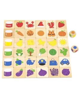 Дерев'яна гра пазл Viga Toys Вивчаємо кольори (44505)