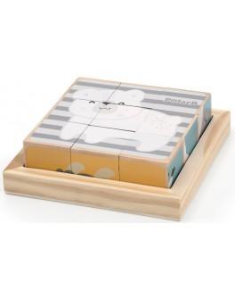 Деревянные кубики-пазл Viga Toys PolarB Зверята (44024)