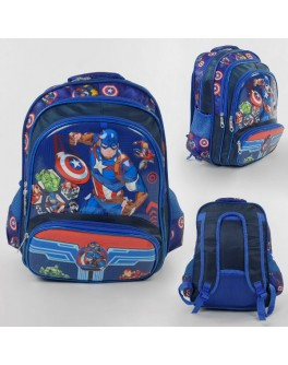 Рюкзак школьный Капитан Америка 1 отделение, 3 кармана, мягкая спинка (С 43572)