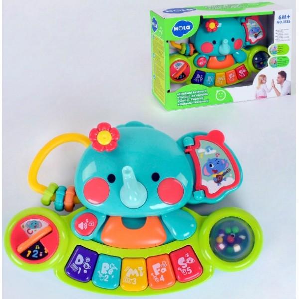 Піаніно дитяче Слоник Музична іграшка Hola Toys