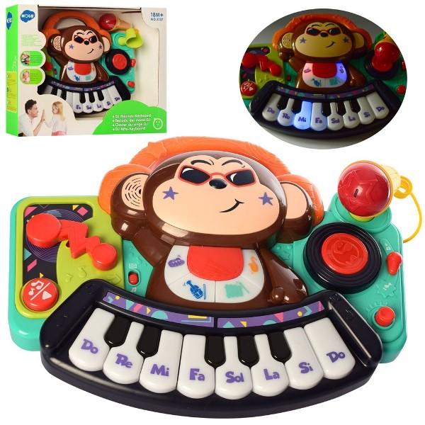 Піаніно дитяче Мавпочка Музична іграшка Hola Toys
