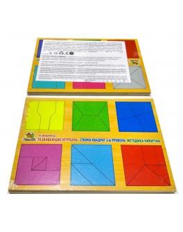 Сложи Квадрат 2 уровень Кубики Никитина - wkind CK-020