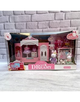 Будиночок Щаслива сім'я з флоксовими тваринами Модний бутик (6631)