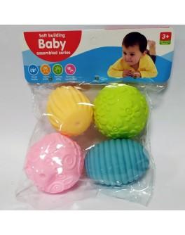 Набір сенсорних м'ячиків Fancy Baby Тактілікі 4 шт (а101-3)