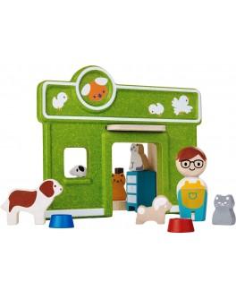 Деревянная игрушка Ветеринарная поликлиника Plan Toys (6616) - plant 6616