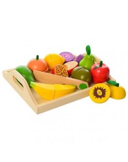 Набор фруктов деревянных для нарезки  на магнитах (MD 1070) - mpl MD 1070