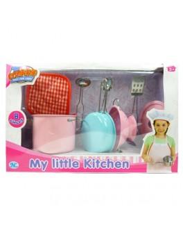 Кухонный набор посуды 8 предметов цветной (S071B) - ves S071B