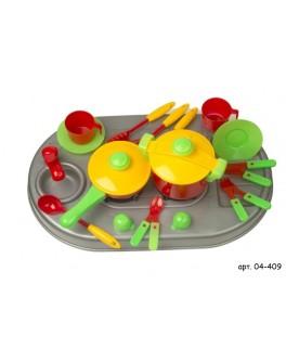 Плита Kinderway с мойкой и посудой