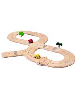 Деревянная дорога Стандарт Plan Toys (6077)