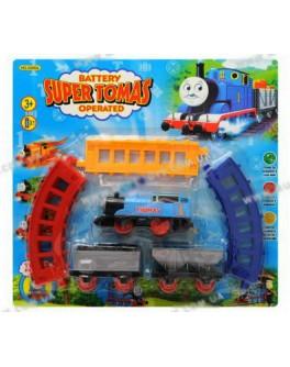 """Железная дорога """"Паровозик Томас"""", на батарейке, разноцветные рельсы."""