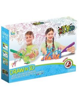 Набор для детского творчества с 3D-ручкой 8 цветов, 2 вида Diy 3D
